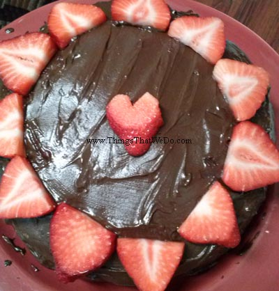 thingsthatwedo.com - homemade chocolate cake
