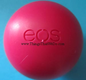 thingsthatwedo.com - eos lip balm pomegranate raspberry