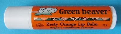 thinsthatwedo.com - green beaver zesty orange lip balm