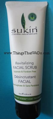 thingsthatwedo.com - sukin revitalizing facial scrub