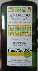 thingsthatwedo.com - andalou naturals sunflower and citrus shampoo