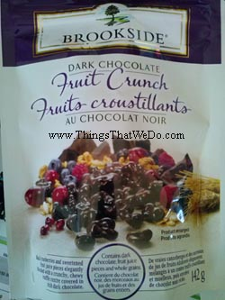 thingsthatwedo.com - brookside dark chocolate fruit crunch