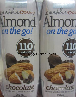 thingsthatwedo.com - earths own almond on the go chocolate flavour
