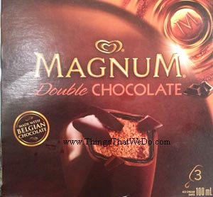 thingsthatwedo.com - magnum double chocolate ice cream bar