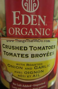 thingsthatwedo.com - eden organic crushed tomatoes with roasted onion and garlic