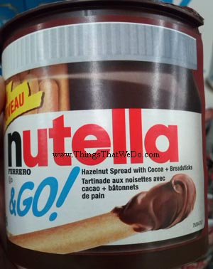 thingsthatwedo.com - nutella and go