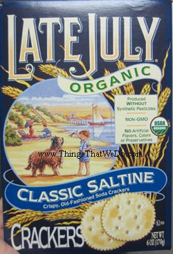 thingsthatwedo.com - late july organic classic saltine crackers