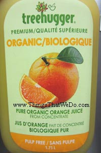 thingsthatwedo.com - treehugger premium pure organic orange juice
