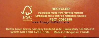 thingsthatwedo.com - green beaver cinnamon natural toothpaste