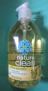 thingsthatwedo.com - nature clean citrus liquid soap