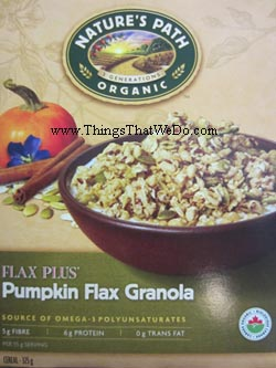 thingsthatwedo.com - nature's path flax plus pumpkin flax granola