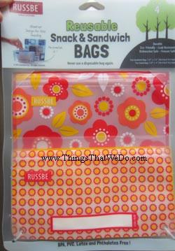thingsthatwedo.com - russbe reusable snack and sandwich bags