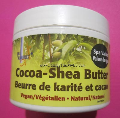thingsthatwedo.com - shea all naturals cocoa shea butter