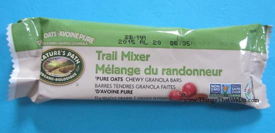 thingsthatwedo.com - nature's path trail mixer granola bar