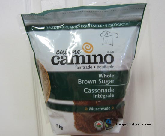 thingsthatwedo.com - camino whole brown sugar