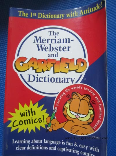 thingsthatwedo.com - merriam webster garfield dictionary