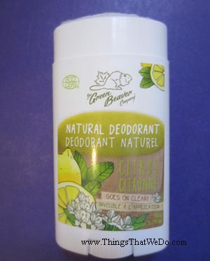 thingsthatwedo.com - green beaver citrus natural deodorant