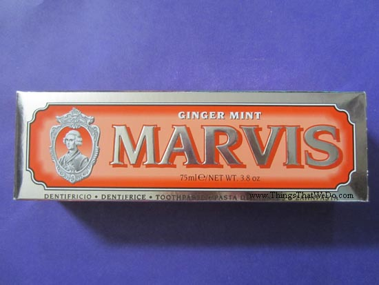 thingsthatwedo.com - marvis ginger mint toothpaste