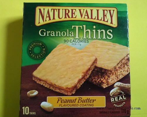 thingsthatwedo.com - nature valley peanut butter granola thins