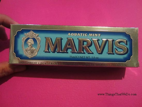 thingsthatwedo.com - marvis aquatic mint toothpaste