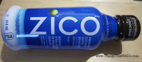 thingsthatwedo.com - zico premium coconut water with natural chocolate flavour