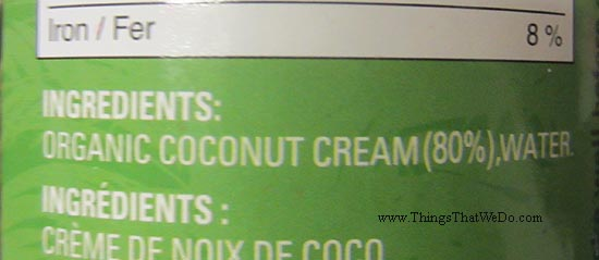 thingsthatwedo.com - earths choice organic coconut cream
