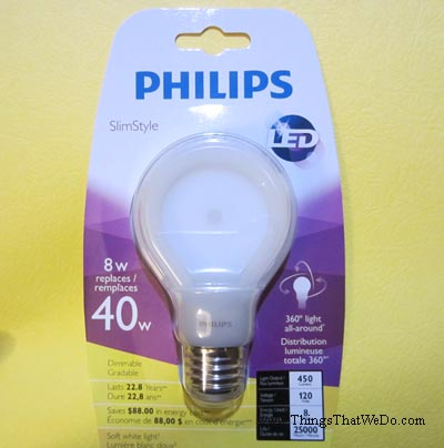 thingsthatwedo.com - philips slimstyle LED lightbulb