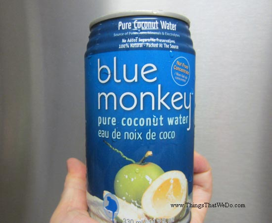 thingsthatwedo.com - blue monkey coconut water