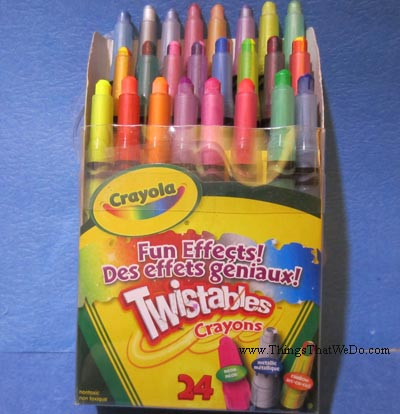 thingsthatwedo.com - crayola fun effects twistables