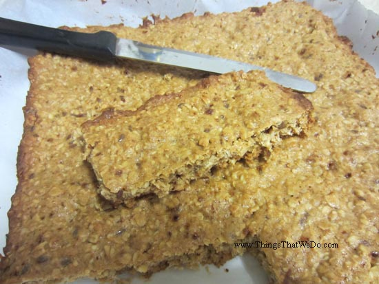 thingsthatwedo.com - homemade honey granola bars