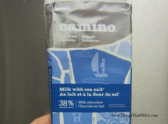thingsthatwedo.com - camino milk chocolate with sea salt
