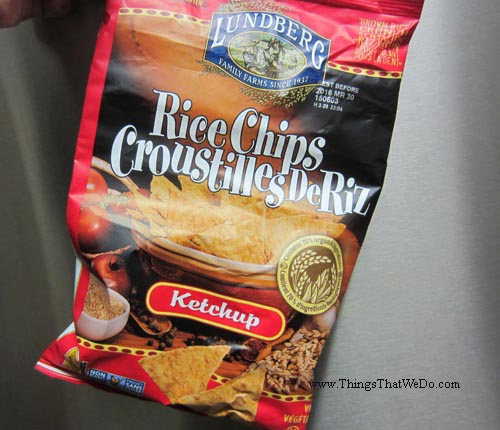 thingsthatwedo.com - lundberg ketchup rice chips