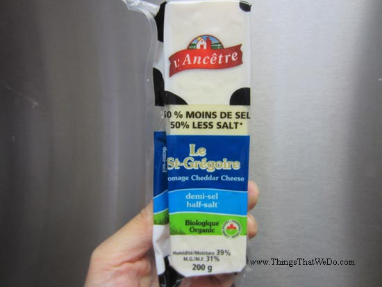 thingsthatwedo.com - l'ancetre organic half salt cheddar cheese