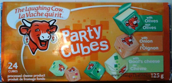 thingsthatwedo.com - the laughing cow party cubes