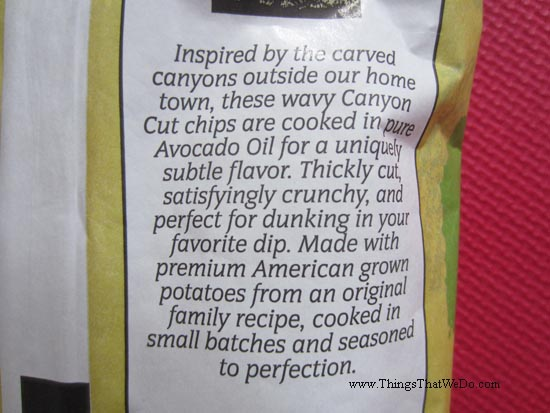 thingsthatwedo.com - boulder canyon avocado oil canyon cut potato chips