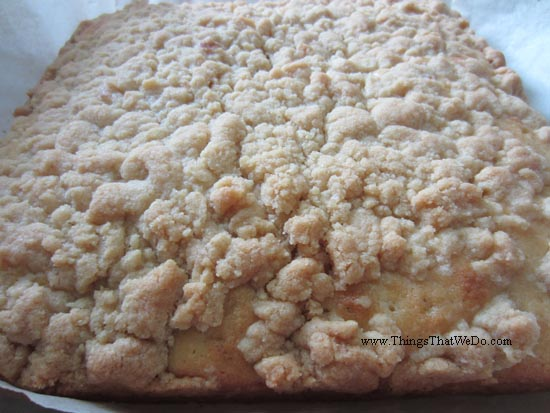 thingsthatwedo.com pic - streusel coffee cake