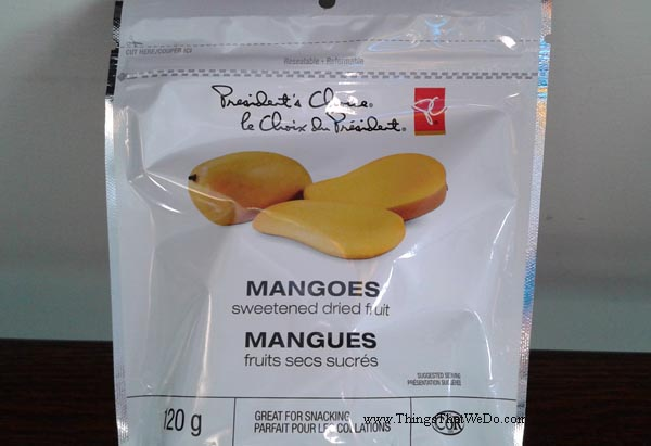thingsthatwedo.com - presidents choice dried mango