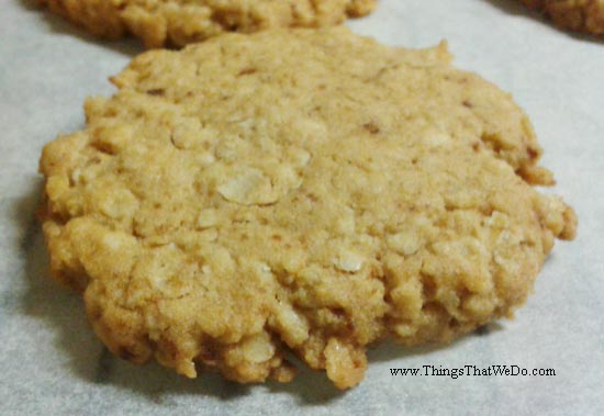 thingsthatwedo.com - oatmeal butter cookies