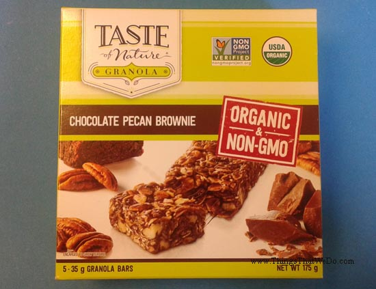 thingsthatwedo.com - taste of nature chocolate pecan brownie granola