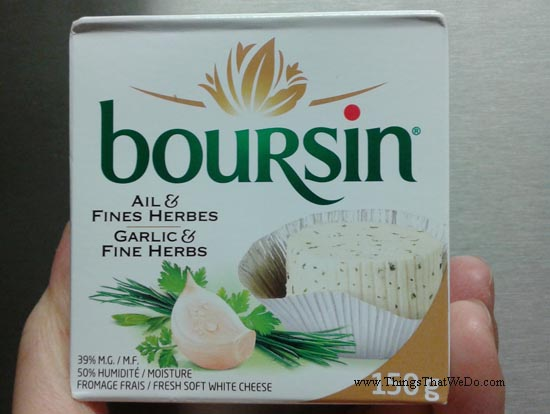 thingsthatwedo.com - boursin garlic and fine herbs cheese